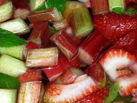 Rabarber-aardbeien marmalade